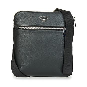 Tašky Muži Vrecúška a malé kabelky Emporio Armani BUSINESS FLAT MESSENGER BAG Čierna