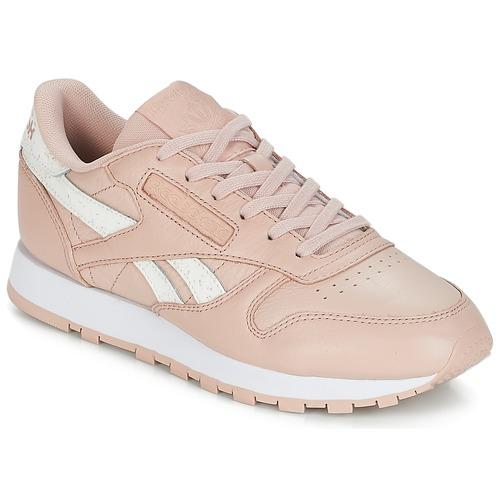 Topánky Ženy Nízke tenisky Reebok Classic CLASSIC LEATHER Ružová   Biela a3512cc965e