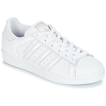 Topánky Ženy Nízke tenisky adidas Originals SUPERSTAR W Biela / Strieborná