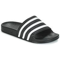 Topánky športové šľapky adidas Originals ADILETTE Čierna / Biela