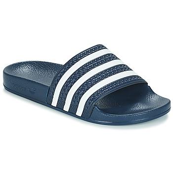 Topánky športové šľapky adidas Originals ADILETTE Námornícka modrá / Biela