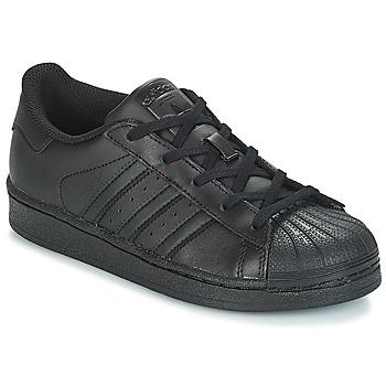 Topánky Deti Nízke tenisky adidas Originals SUPERSTAR C Čierna