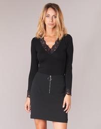 Oblečenie Ženy Tričká s dlhým rukávom Morgan TRACY Čierna