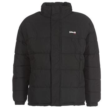 Oblečenie Vyteplené bundy Schott NEBRASKA Čierna