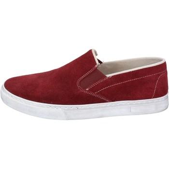 Topánky Muži Slip-on Nyon NYON slip on bordeaux camoscio BZ901 Rosso