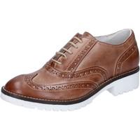Topánky Ženy Richelieu Crown classiche marrone pelle BZ932 Marrone