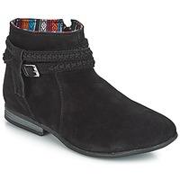 Topánky Ženy Polokozačky Minnetonka DIXON BOOT Čierna