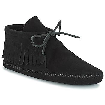 Topánky Ženy Polokozačky Minnetonka CLASSIC FRINGE Čierna