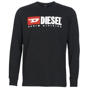 Oblečenie Muži Tričká s dlhým rukávom Diesel T JUST LS DIVISION Čierna