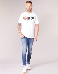 Oblečenie Muži Džínsy Skinny Diesel SLEENKER Modrá