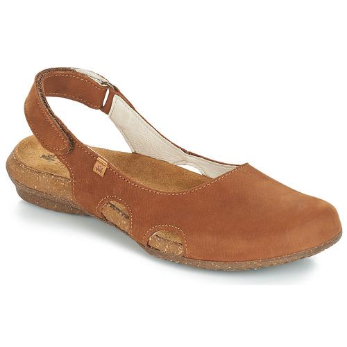 Topánky Ženy Sandále El Naturalista WAKATAUA Hnedá