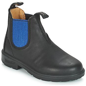 Topánky Deti Polokozačky Blundstone KIDS BOOT Čierna / Modrá