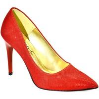 Topánky Ženy Lodičky John-C Dámske červené lodičky PAULÍNA červená