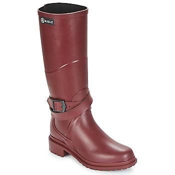 Topánky Ženy Čižmy do dažďa Aigle MACADAMES Bordová