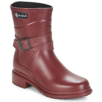 Topánky Ženy Čižmy do dažďa Aigle MACADAMES MID Bordová