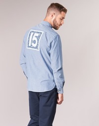 Oblečenie Muži Košele s dlhým rukávom Serge Blanco 15 DOS Modrá