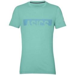 Oblečenie Muži Tričká s krátkym rukávom Asics Graphic SS Top Belasá