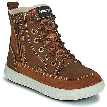 Topánky Chlapci Polokozačky Primigi PCA 24130 Hnedá