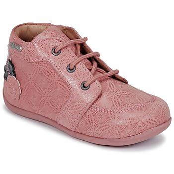 Topánky Dievčatá Polokozačky Aster DILA Ružová