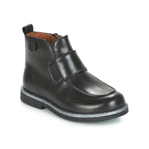 Topánky Dievčatá Polokozačky Aster EVA Čierna