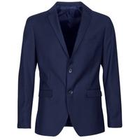 Oblečenie Muži Saká a blejzre Sisley FASERTY Námornícka modrá
