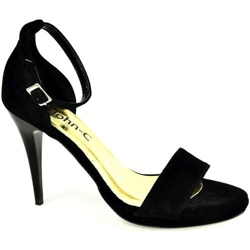 0a7377a21358 John-C Dámske čierne sandále ROSARIA čierna - Topánky Sandále Damy ...