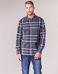 Oblečenie Muži Košele s dlhým rukávom Oxbow CAMPO Námornícka modrá