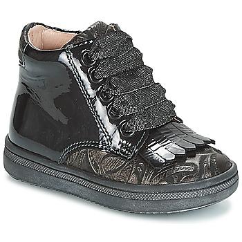 Topánky Dievčatá Členkové tenisky Acebo's DOLAGIRI Čierna / Strieborná