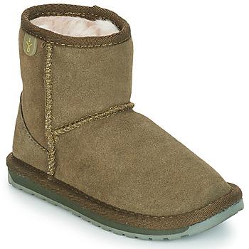 Topánky Dievčatá Polokozačky EMU WALLABY MINI Kaki