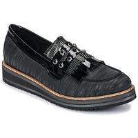 Topánky Ženy Mokasíny Regard RUVOLO V1 ZIP NERO Čierna