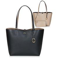 Tašky Ženy Veľké nákupné tašky  Lauren Ralph Lauren MERRIMACK REVERSIBLE TOTE MEDIUM Čierna / Hnedošedá