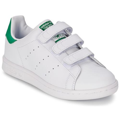 Topánky Deti Nízke tenisky adidas Originals STAN SMITH CF C Biela / Zelená