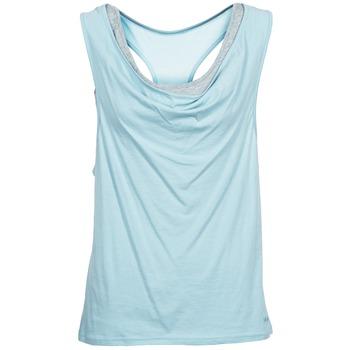 Oblečenie Ženy Tielka a tričká bez rukávov Bench SKINNIE Modrá