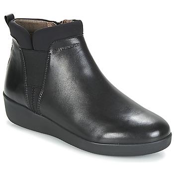 Topánky Ženy Polokozačky Stonefly PASEO IV 5 NAPPA Čierna