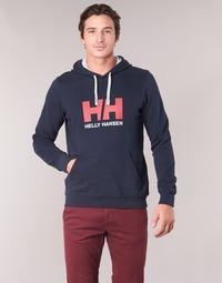 Oblečenie Muži Mikiny Helly Hansen HH LOGO HOODIE Námornícka modrá
