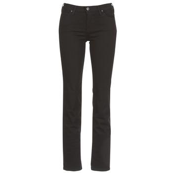 Oblečenie Ženy Rovné džínsy Lee MARION STRAIGHT Čierna