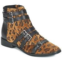 Topánky Ženy Polokozačky Le Temps des Cerises IZY Leopard