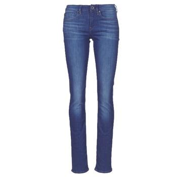 Oblečenie Ženy Rovné džínsy G-Star Raw MIDGE SADDLE MID STRAIGHT Modrá / Medium / Aged