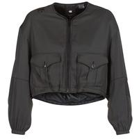 Oblečenie Ženy Bundy  G-Star Raw RACKAM OS CROPPED BOMBER Čierna