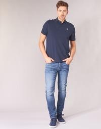 Oblečenie Muži Džínsy Slim G-Star Raw D-STAQ 5-PKT SLIM Modrá / Medium / Modrá indigová / Aged