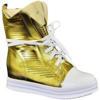 Topánky Ženy Členkové tenisky John-C Dámske zlaté tenisky CALIS zlatá