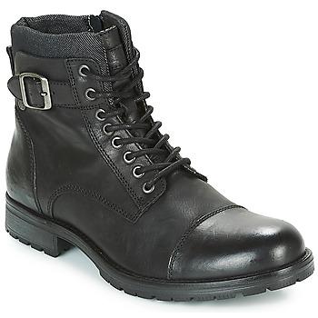 Topánky Muži Polokozačky Jack & Jones ALBANY LEATHER Čierna