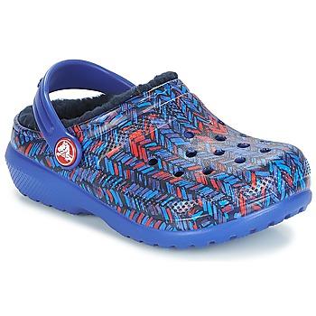 Topánky Deti Nazuvky Crocs CLASSIC LINED GRAPHIC CLOG K Modrá