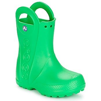 Topánky Deti Čižmy do dažďa Crocs HANDLE IT RAIN BOOT KIDS Zelená
