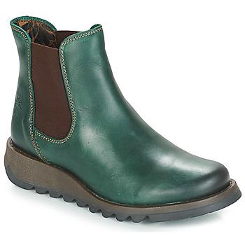 Topánky Ženy Polokozačky Fly London SALV Zelená