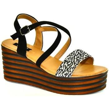 Topánky Ženy Sandále John-C Dámske čierne sandále DICIA čierna