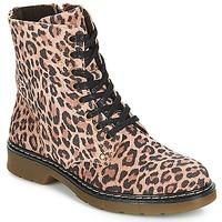 Topánky Dievčatá Polokozačky Bullboxer LANA Leopard