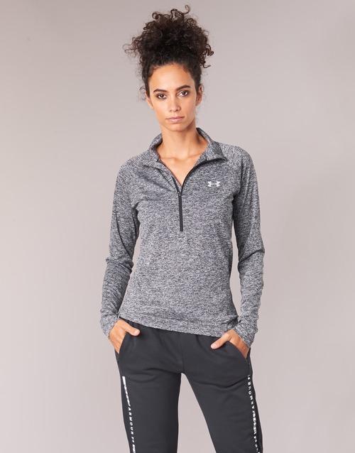 Oblečenie Ženy Tričká s dlhým rukávom Under Armour TECH 1/2 ZIP TWIST Čierna