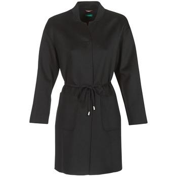 Oblečenie Ženy Kabáty Benetton MARBELLO Čierna