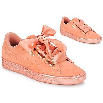Topánky Ženy Nízke tenisky Puma WN SUEDE HEART SATIN.DUSTY Oranžová